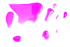 Pink Blot Of India Ink Stock Photography