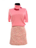 Pink blouse and skirt on mannequin. Royalty Free Stock Image
