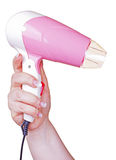 Pink blower in hand Royalty Free Stock Photos