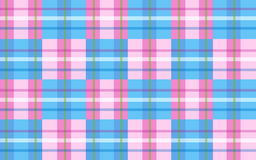 Pink & Blue. Plaid pattern for the mother and child Stock Photos