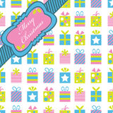Pink Blue And Green Christmas Wrapping Royalty Free Stock Photography