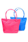Pink and blue bags Royalty Free Stock Image