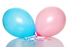 Pink And Blue Balloon royalty free stock photography