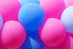 Pink and blue balloons for background Royalty Free Stock Photo