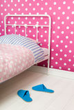 Pink and blue bedroom Stock Images