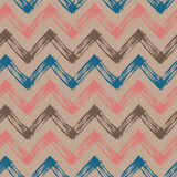 Pink, blue and beigezigzag pattern Royalty Free Stock Photos