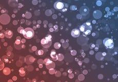 Pink blue bokeh Stock Image