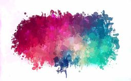 Pink and blue brush strokes cloud. Vector version Royalty Free Stock Images