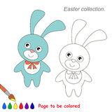 Pink and Blue Bunny to be colored. Game for kids. Stock Images