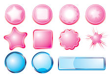 Pink and Blue Button Stock Images