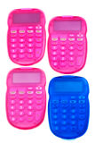 Pink and blue calculators Royalty Free Stock Image