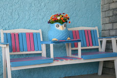 Pink and blue chair Royalty Free Stock Image
