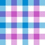 Pink blue check plaid seamless pattern Royalty Free Stock Image