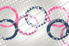 Pink and blue circular ring, abstract background Royalty Free Stock Image