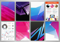 Pink and blue creative backgrounds and abstract concept vector i Royalty Free Stock Images