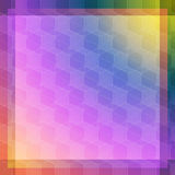 Pink and blue cube abstraction. Pink blue yellow vector abstract background with transparent cubes Stock Illustration