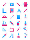 Pink-blue design icons set Royalty Free Stock Photo