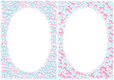 Pink_blue_drops_framework Imagens de Stock Royalty Free