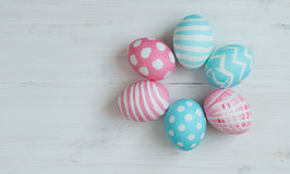 Pink and blue easter eggs Royalty Free Stock Photo