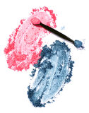 Pink and blue eyeshadow Royalty Free Stock Image