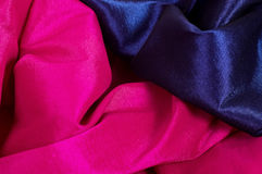 Pink and blue fabric Stock Photography