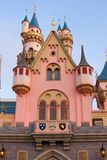 Pink and Blue Fantasy Castle at Disneyland Stock Photography