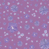 Pink and blue floral vector pattern Stock Photos