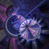Pink and blue fractal stained glass Stock Images