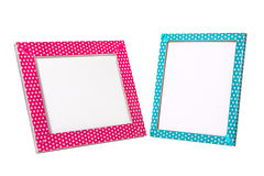 Pink and blue frames Stock Photos