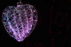 stunning Pink and blue glass heart room for copy text Royalty Free Stock Images