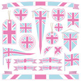 Pink and blue great britain Royalty Free Stock Photo