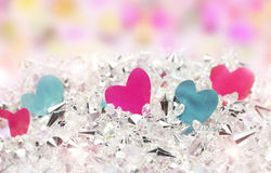 Pink blue Heart and diamonds Royalty Free Stock Image