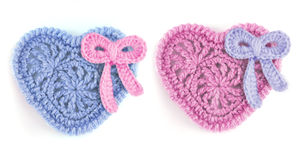 Pink and blue hearts Stock Photos