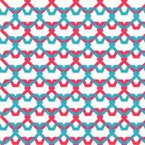 Pink and blue hearts seamless texture Stock Images
