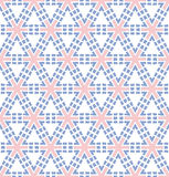 Pink blue hexagonal flower pattern. Abstract background or paper pink blue hexagonal flower pattern Stock Photography