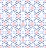 Pink blue hexagonal flower pattern Stock Photography