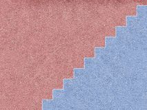 Pink and blue house with stairs royalty free illustration
