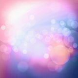 Pink blue  light bokeh background Royalty Free Stock Photography