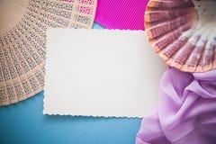Pink &  blue  marine background Stock Photos