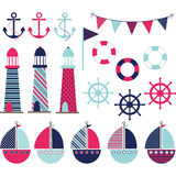 Pink Blue Nautical Stock Photos