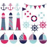 Pink Blue Nautical Stock Photos
