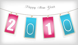 Pink and blue new year cards. New year cards. Vector art Royalty Free Stock Images