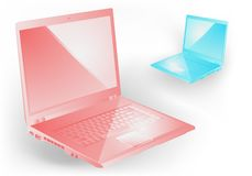 Pink and blue notebooks Royalty Free Stock Photo