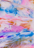 Pink and blue paint splodge abstract Stock Image