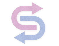 Pink and blue papper arrows Stock Image