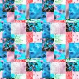 Pink blue patchwork background stock illustration