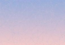 Pink and blue piece of glass low poly colorful gradient. Stock Image