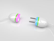 Pink and blue plugs Stock Photography
