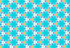 Pink blue purple flower pattern wallpaper Stock Images