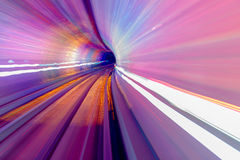 Pink Blue Rail Abstract Underground Railway Bund Shanghai China Stock Images